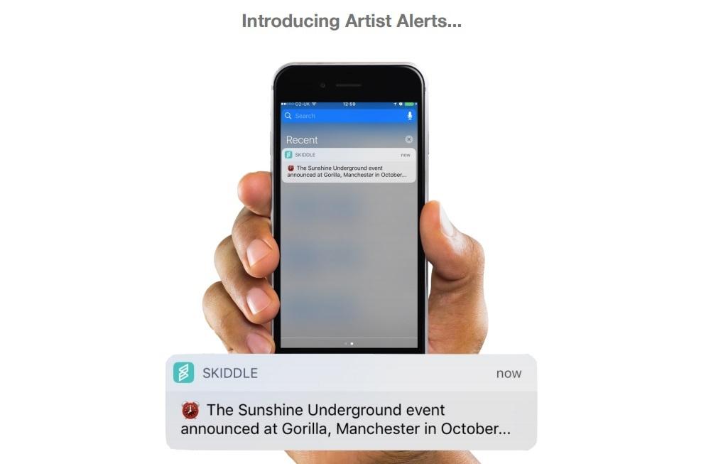 artist alerts